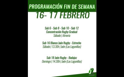 Programación del fin de semana del 16-17 de Febrero
