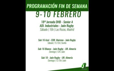 Programación del fin de semana del 9-10 de Febrero