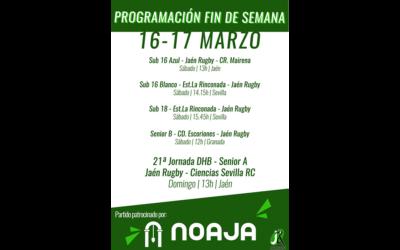 Programación del fin de semana del 16-17 Marzo