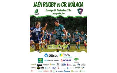 Jaén Rugby vuelve a la competición defendiendo su segunda plaza contra C.R. Málaga