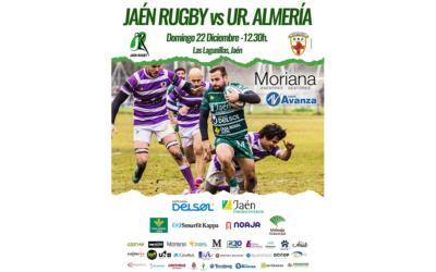 Jaén Rugby recibe a Unión de Rugby Almería antes del parón Navideño