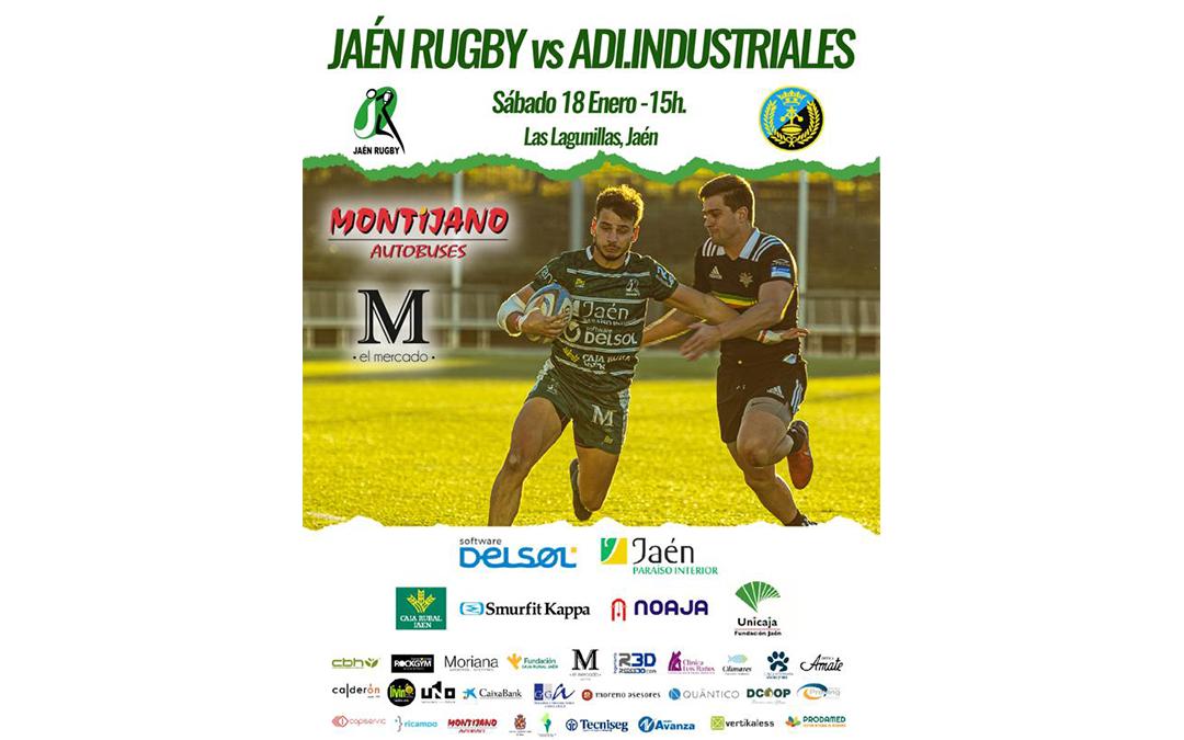 Duelo en lo más alto, Jaén Rugby 2º clasificado, recibe al líder: ADI Industriales Las Rozas
