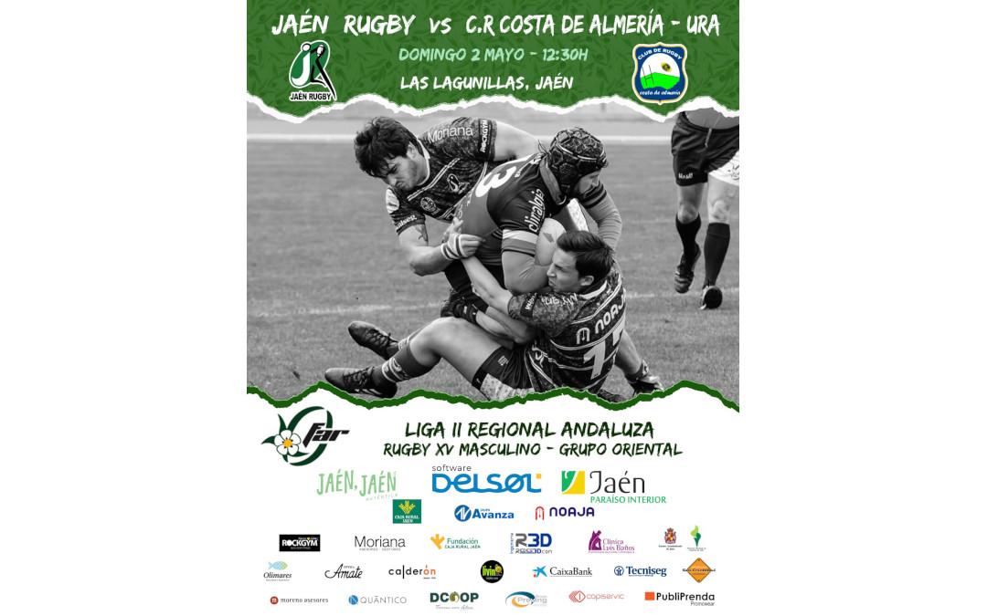 Jaén Rugby se enfrenta a CR Almeria este Domingo 2 de Mayo